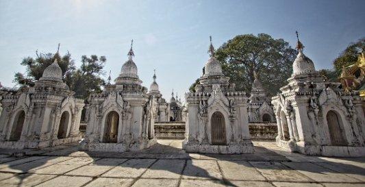 Estupas de la pagoda de Kuthodaw.