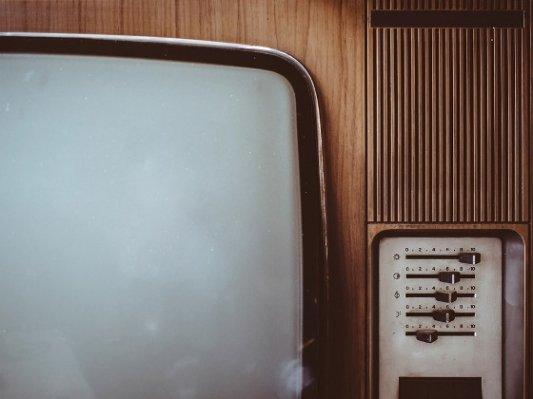 Detalle de una televisión antigua.