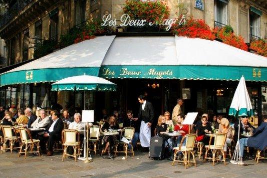 Café literario Les deux magots.