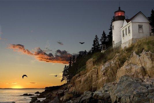 Paisaje de Maine, Nueva Inglaterra.