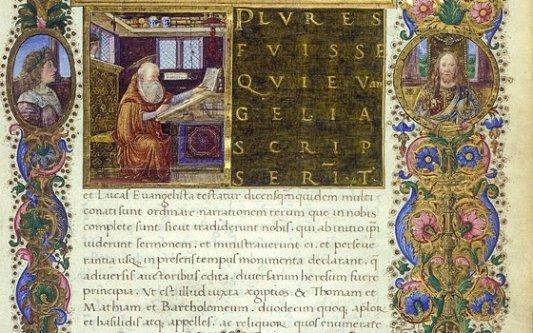 Códice de la Biblioteca Corviniana.