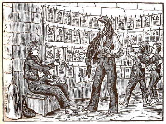 Puesto de un antiguo vendedor de literatura de cordel.