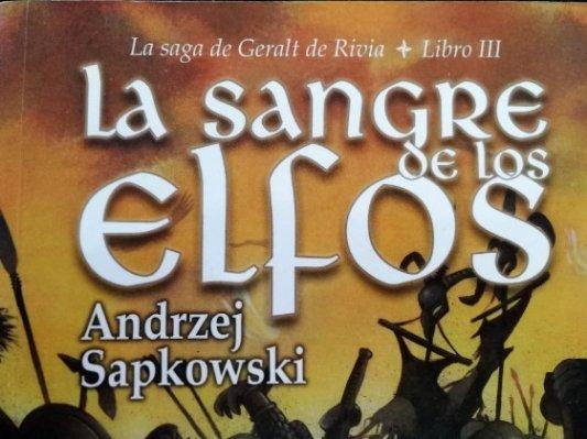 Cubierta de La sangre de los elfos.