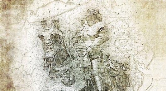 Mapa de fantasía medieval.