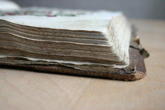 Detalle de una Biblia de Gutenberg.