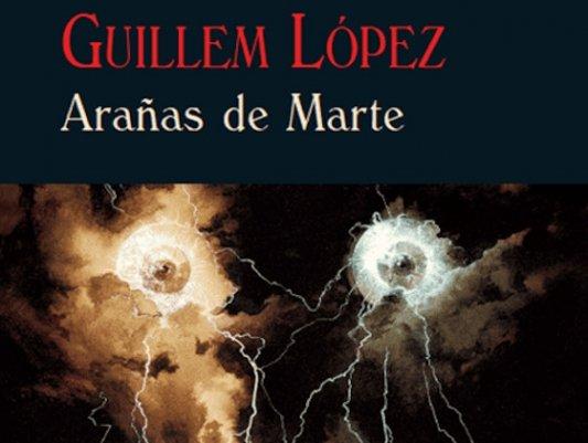 Detalle de la portada de Arañas de Marte.