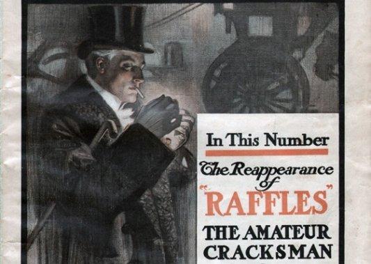 Detalle de ilustración para cuento de Raffles.