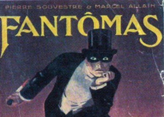 Detalle de la cubierta original de Fantômas en 1911.