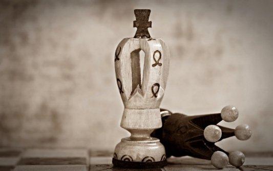 Dos piezas de ajedrez.