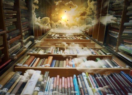 Biblioteca de fantasía.