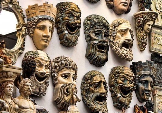 Máscaras de la Antigua Grecia.