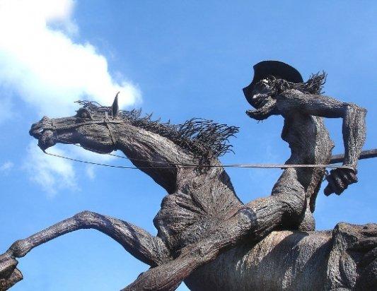 Estatua de Don Quijote de la Mancha.