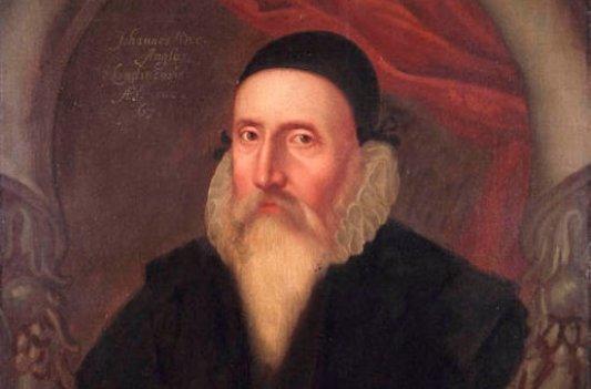 Retrato de John Dee.
