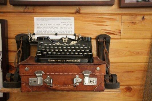 Máquina de escribir de un escritor.