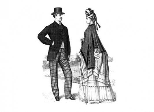 Hombre y mujer del siglo XIX.