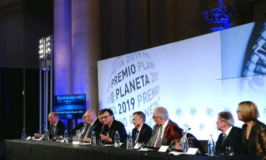 Rueda de prensa de Javier Cercas en el Premio Planeta 2019.