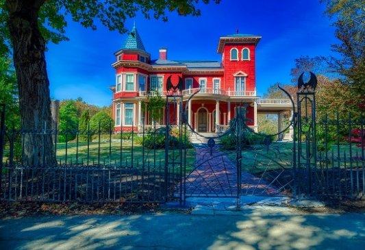 Casa de Stephen King en Bangor.