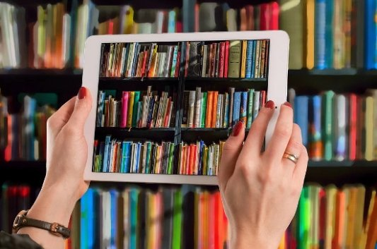 Tableta con libros digitales.