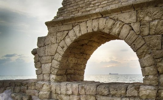 Vista de las ruinas de Cesarea Marítima.