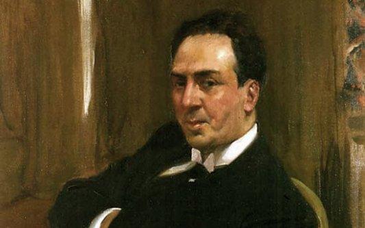 Retrato de Machado por Joaquín Sorolla.
