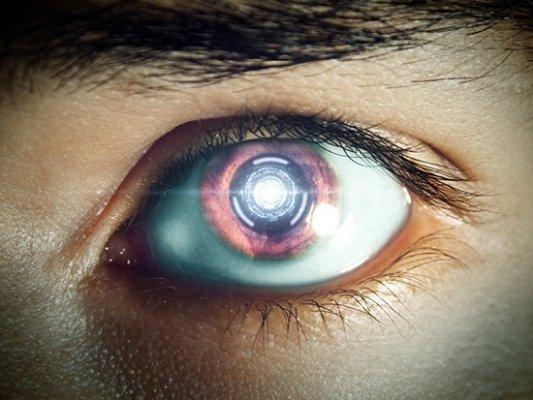 Ilustración de un ojo futurista