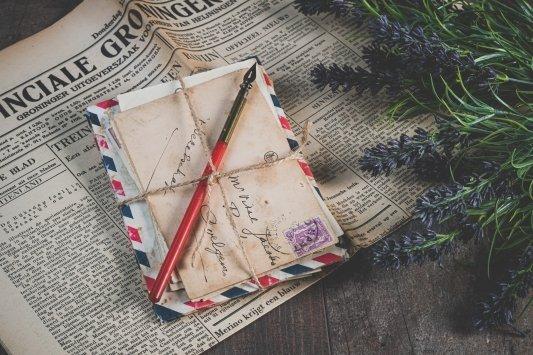 Cartas antiguas sobre un periódico